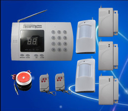 Wholesale Home Alarm Wired - The Cheapest best Quality Easy Installation Wireless Home Security Burglar Auto Dial Alarm S218