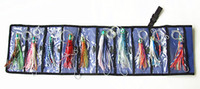 Wholesale Skirt China Wholesale - Octopus Skirt Baits Sea Trolling Lure Soft Fishing Lures China Tackle Bag Resin head With Hook Line 10 pcs Mixed suit with Bag