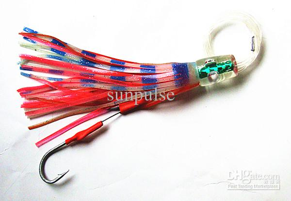 Octopus Skirt Baits Sea Trolling Lure Soft Fishing Lures China Tackle Bag Resin head With Hook Line Mixed suit with Bag