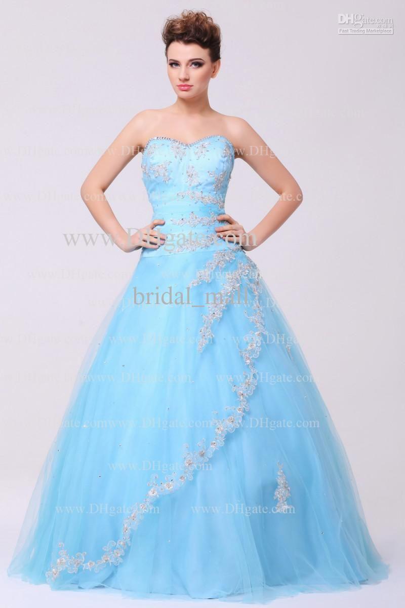 2014 Sweetheart neckline appliqued off shoulder sleeveless lace-up backless floor length prom dress