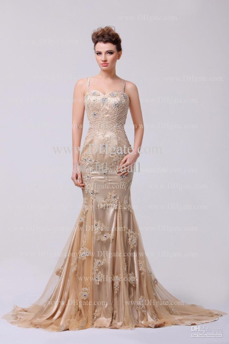 High Quality Sweetheart Neckline Beaded Bodice Spaghetti Strap Backless Sleeveless Long Prom Dress
