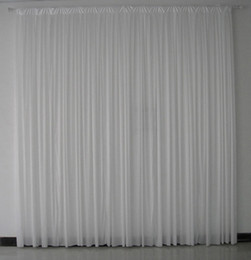 Wholesale Quality Curtain Rods - 3m*3m white color high quality ice silk wedding backdrop curtain