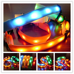 Wholesale Cheapest Price Led - Cheapest Price high quality led dog collar light up flashing pet collar Lamp beads pet collar