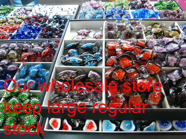 top popular teardrop glitter lampwork pendant venetian murano glass necklaces pendants and earrings sets Mus013 cheap fashion jewellery 2021