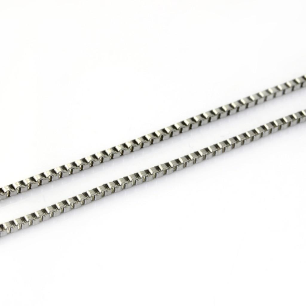10st / parti 2mm unika ljus unisex smycken silver rostfritt stål liten låda kedja nckelace21.6 ''