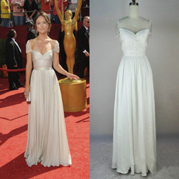Wholesale Coral Sample - Real Sample Vanessa Gossip Girl Olivia Wilde A Line Tank Chiffon Cap Sleeve Evening Dresses High Quality
