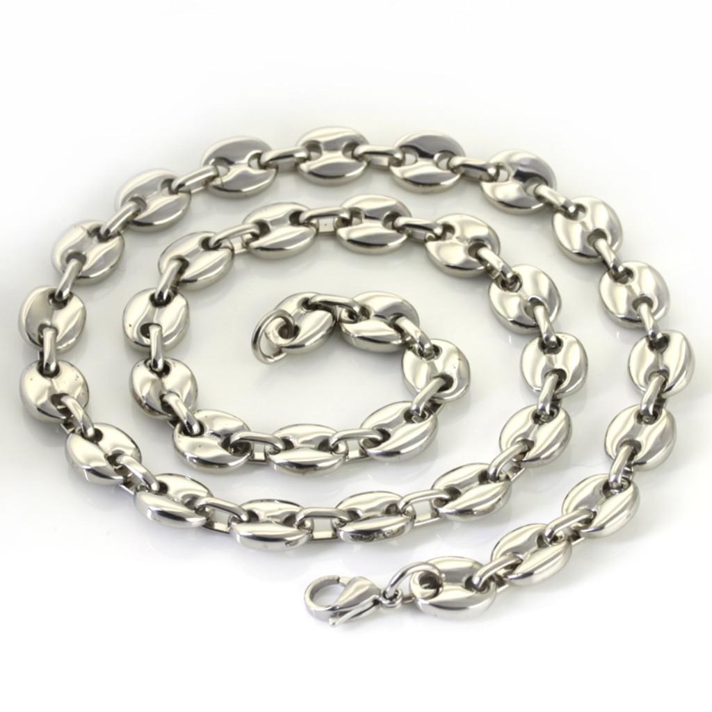 1pcs 10.5mm 82g Cool stil högkvalitativa män smycken silver rostfritt stål kaffekedja ncKelace