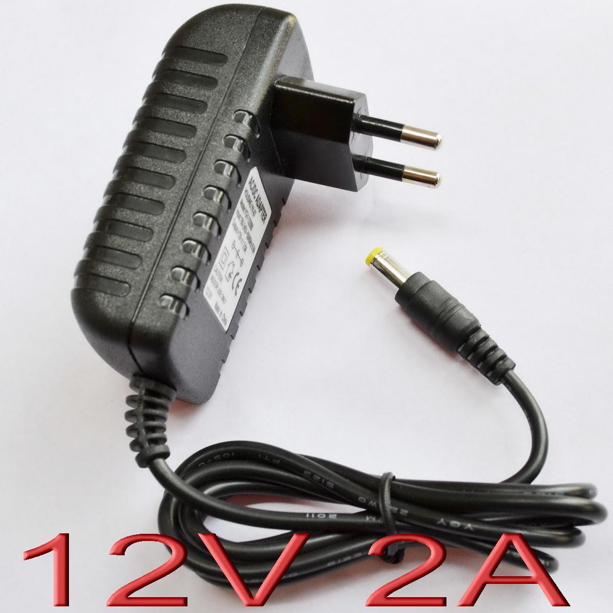 1ピースAC 100V-240VコンバータアダプターDC 12V 2A電源充電器24W LED CCTV 2000MA US EU UK AUプラグDC 5.5mm