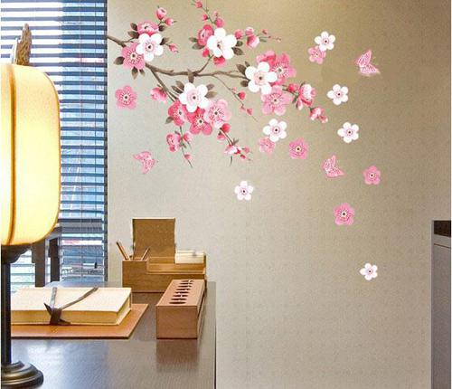Removable Wall Sticker Flowers Butterfly Decal Art Diy