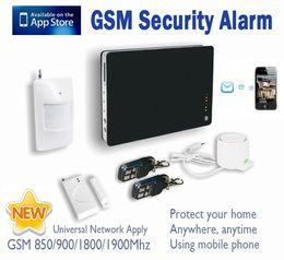 Wholesale Sms Motion Sensor - Smart iOS Andorid Apps Support Wireless Alarm System GSM Home Burglar Security Alarm System SMS Calling With PIR Motion Door Sensor SG-172