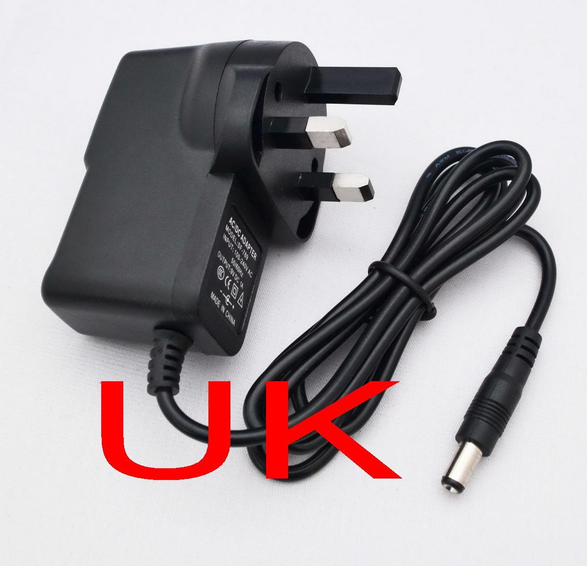 UK Plug AC 100-240V Converter Adapter DC 12V 1A / 9V 1A / 5V 2A / 12V 500mA Strömförsörjning Ny
