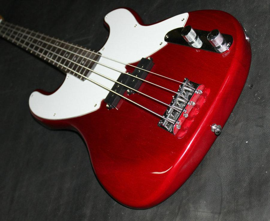 best high quality newest red 4 strings electric bass from china high cheap a2013 headless bass. Black Bedroom Furniture Sets. Home Design Ideas