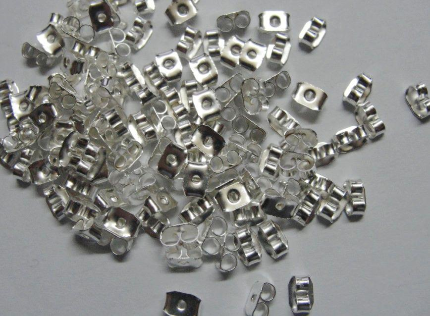 925 Verzilverd Oorbel Oordop Oor Naald DIY Half Gat Beads Oorbellen Accessoires