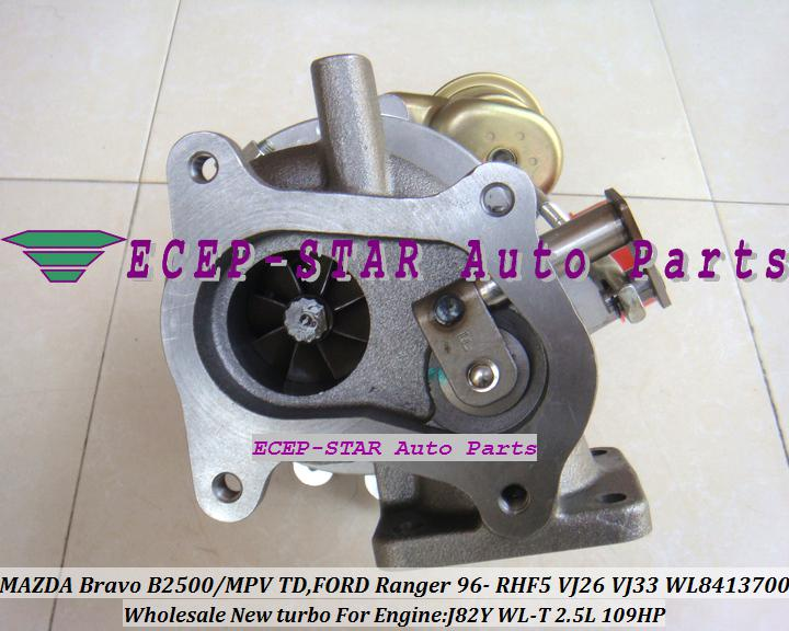 RHF5 VJ25 VJ26 VJ33 WL84 WL11 VC430089 VC430090 VB430012 Turbo Turbolader für FORD Ranger MAZDA Bravo B2500 MPV 115 J 97 A J82Y WL-T WLT 2.5L