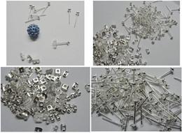 ganchos de botão antigo Desconto 300 conjunto 925 de prata banhado brinco ear ear ear agulha diy metade buraco contas brincos acessórios