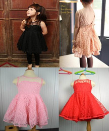 Wholesale Kid Girls Sexy - Phelfish New Design E13059 Girls Dresses Kids Clothes Girl Lace Slip Dress Sexy Summer Dresses
