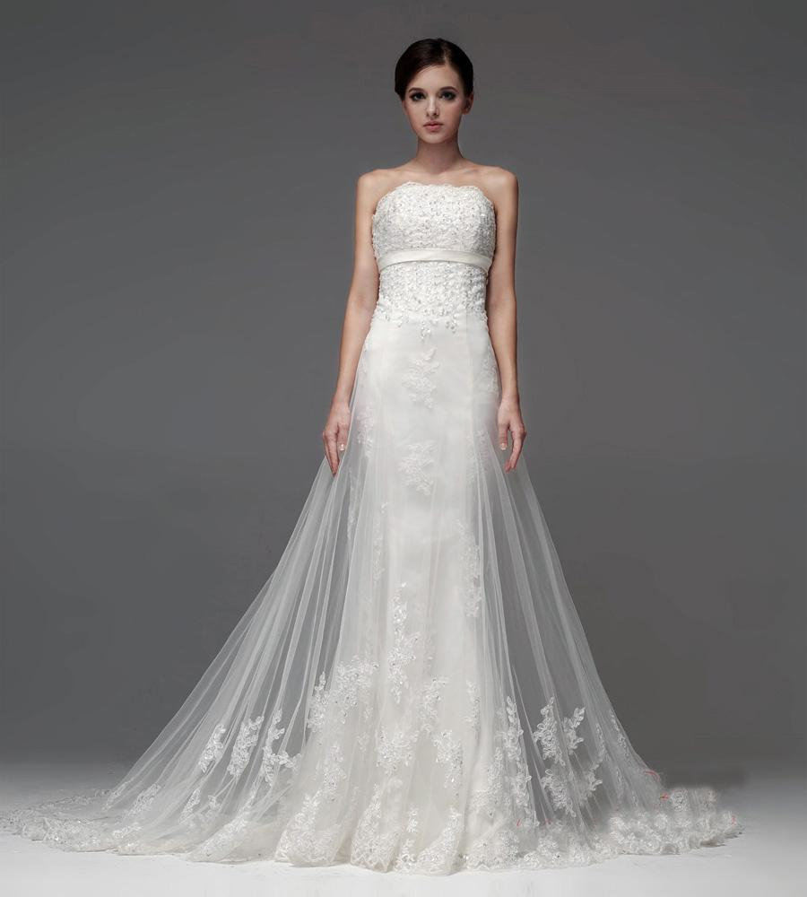 Best selling soft tulle strapless empire lace applique beads soft tulle strapless empire lace applique beads mermaid wedding dresses wedding gown mermaid lace dress sweetheart mermaid wedding dress from ombrellifo Choice Image