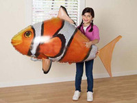 Wholesale Nemo Air Fish - Hot selling free shipping Air Swimmers 1pcs Flying Clownfish Shark Nemo Flying Remote Control RC Fish 2 styles for selection