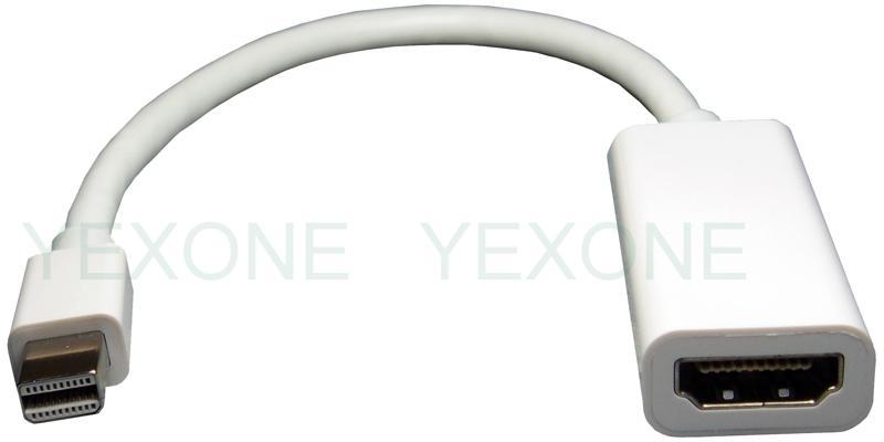thunderbolt mini displayport dp to hdmi adapter adaptor for apple nootbook macbook pro air new. Black Bedroom Furniture Sets. Home Design Ideas