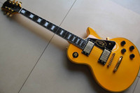 Solid Body 6 Strings Mahogany Best chinese guitar Custom Shop Randy yellow Electric Guitar OEM guitar Ebony fretboard one piece ne