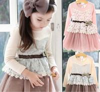 Wholesale Tutu Skirt Gauze Lace - Wholesale - Baby girl's dress Spring children's skirt Petals gauze dress Princess Dress 5 p l