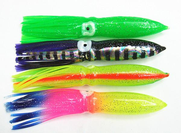 5.5INCH SOFT OCTOPUS Kjol Baits Game Tonfisk Lure Sea Soft Squid Fishing Lures