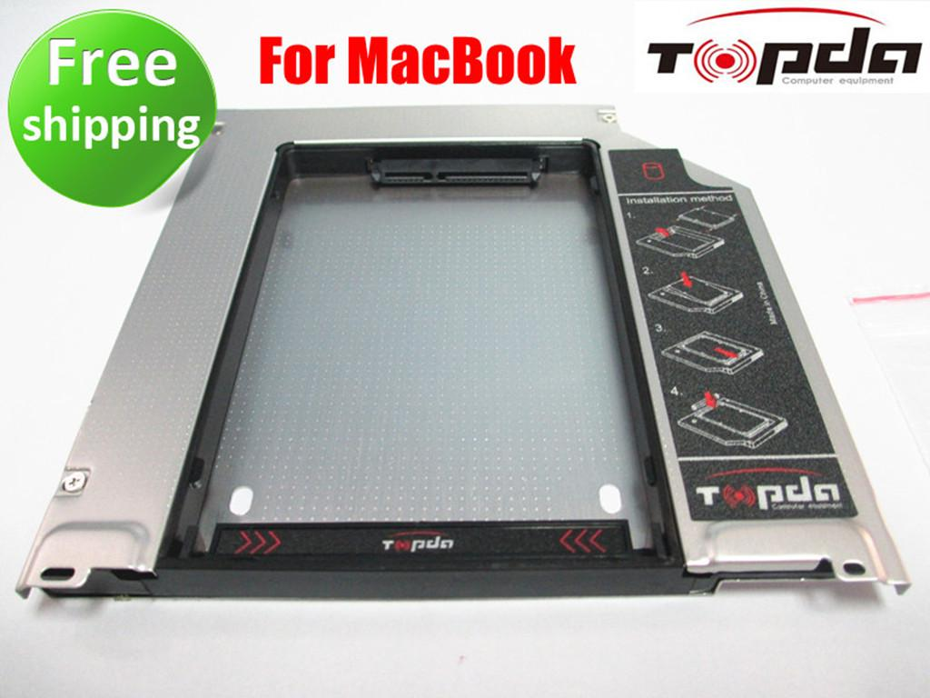 new Topda SATA 2ND HDD SDD Super HARD DRIVE caddy For Apple MacBook Pro fully aluminum