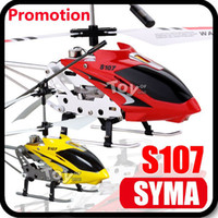 Wholesale Remote Heli - Super Deal SYMA S107 S107G Gyro Electric 3.5CH Metal Infrared Remote Control Mini RC Helicopter Heli