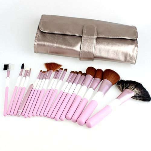 Rosa Makeup Brushes Set Horse Wool Wood Handtag 21 st / Set Quality Professional Makeup Brushes Kit