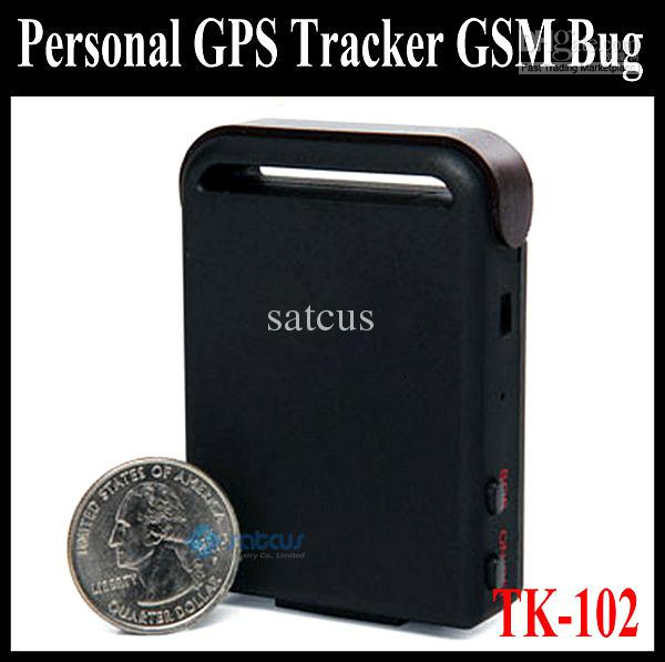 Caliente ! Mini bolsillo Personal Tracker GPS GSM monitor Bug TK102 dispositivo