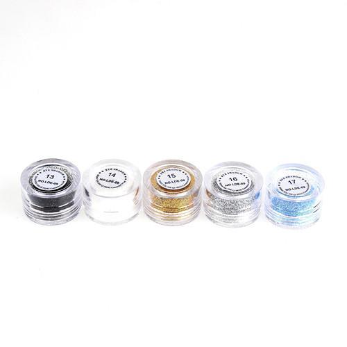 Glitter makeup pigment ögonskugga 24st / parti färg mnq är 6st eye shadow pulver ögonskugga smink