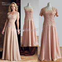 Wholesale Mature Sweetheart - Matured short sleeve Mother of the Bride Dresses jacket included soft pink lace evening dress mother of groom Gowns TB075