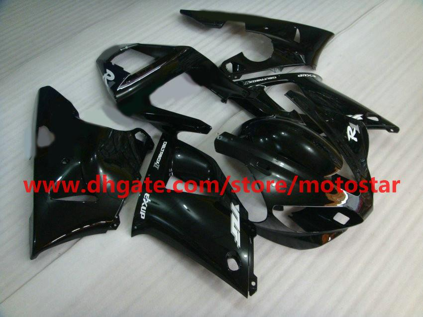 Gloss black fairings For YAMAHA 2000 2001 YZF-R1 00 01 YZFR1 YZF1000 YZF R1 bodywork fairing kit R1F