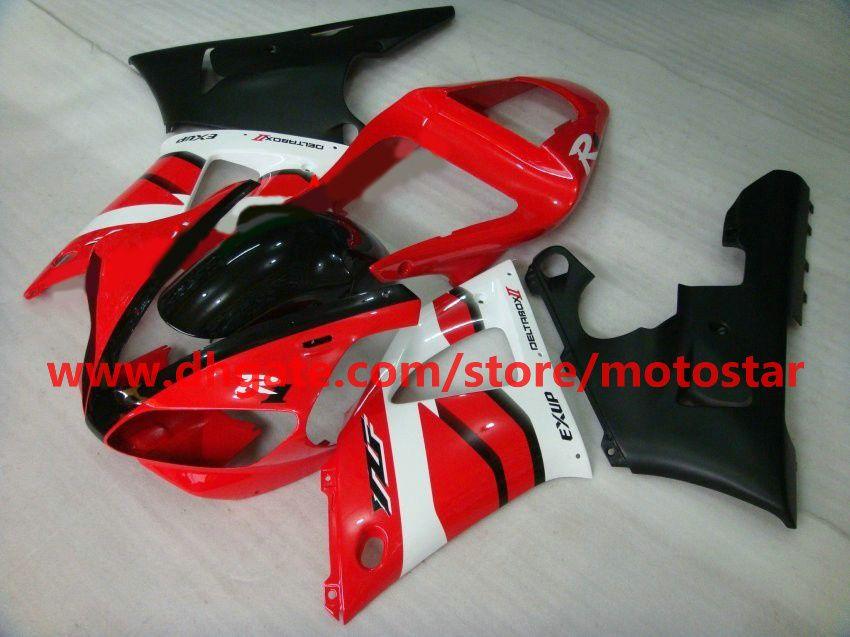 Red white black For YAMAHA 2000 2001 YZF-R1 00 01 YZFR1 YZF1000 YZF R1 bodywork fairing kit R1G6