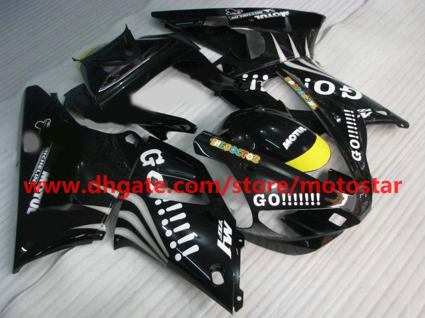White GO!! fairings for YAMAHA 2000 2001 YZF-R1 00 01 YZFR1 YZF1000 YZF R1 bodywork fairing kit R1O9