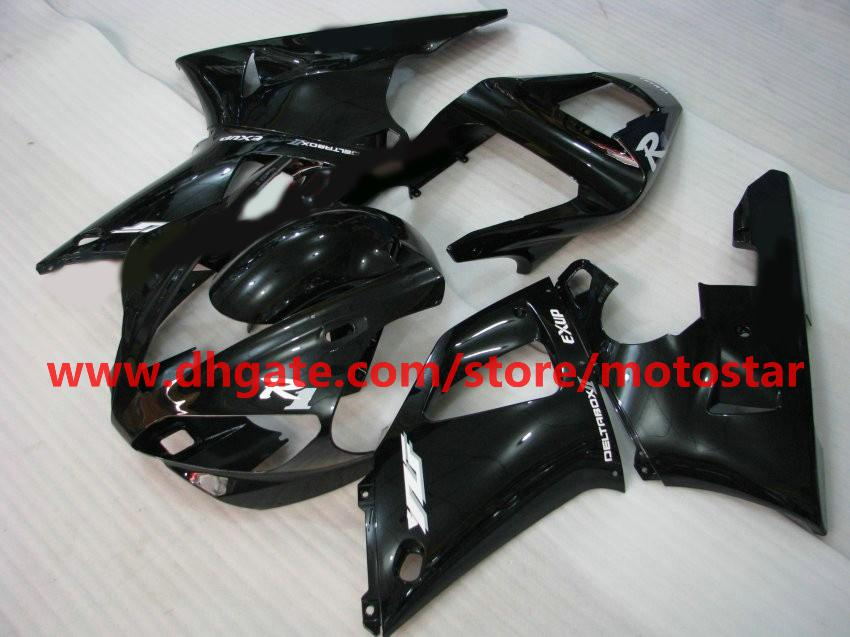All black fairings for YAMAHA 2000 2001 YZF-R1 00 01 YZFR1 YZF1000 YZF R1 motorcycle fairing kit