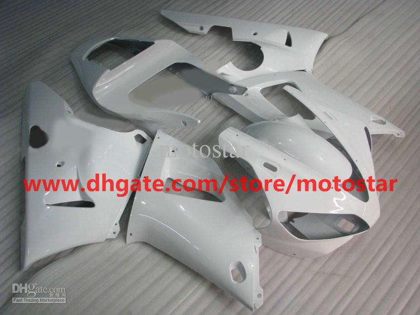 All white fairing For YAMAHA 2000 2001 YZF-R1 00 01 YZFR1 YZF1000 YZF R1 bodywork fairing kit R1MN