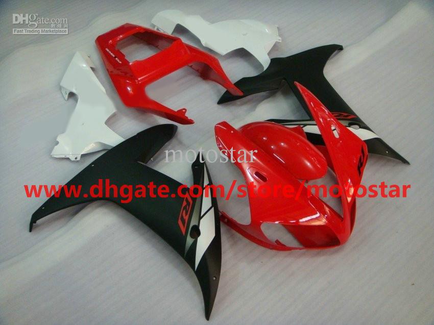 레드 / 화이트 / 블랙 페어링 for 2002 2003 YZF R1 YZF-R1 02 03 YZFR1 1000 yzf1000 페어링 키트 2 선물