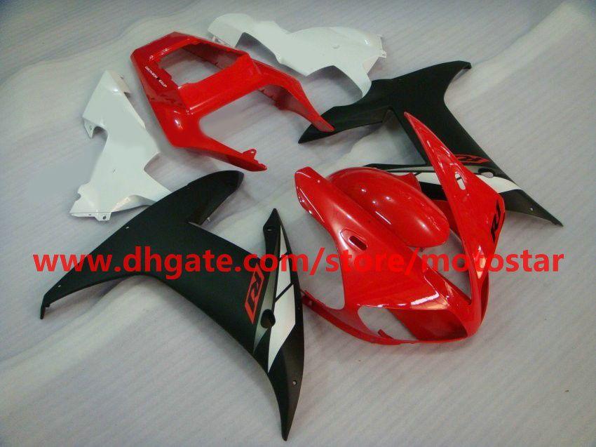 Rood / Wit / Zwart Verklei voor 2002 2003 YZF R1 YZF-R1 02 03 YZFR1 1000 YZF1000 FUNLING KIT 2 Geschenken