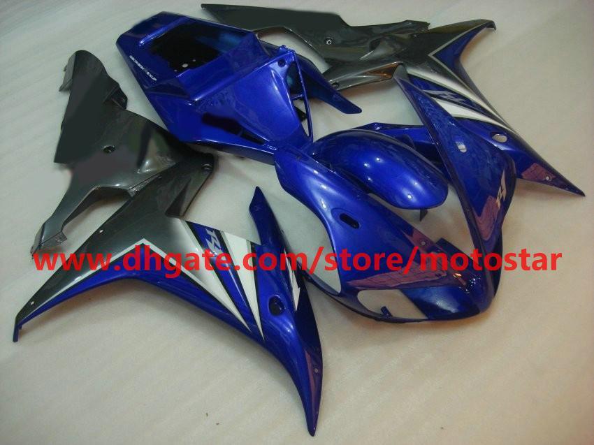 Gratis Custom Body Fairing Kits för 2002 2003 YZF R1 YZF-R1 02 03 YZFR1 1000 YZF1000 Motorcykel Fairing Kit