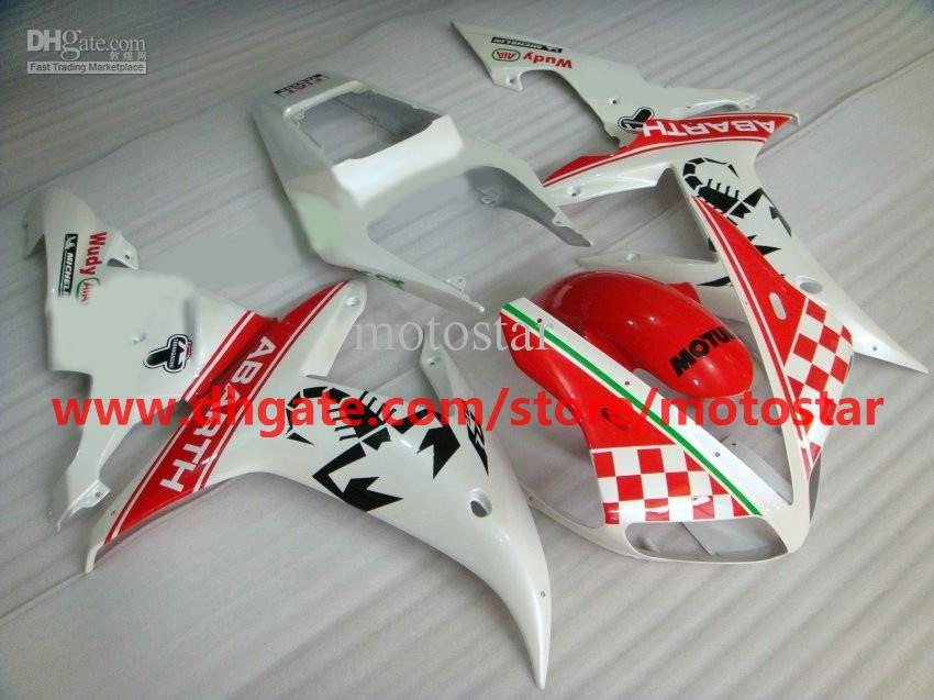 ABARTH fairings fit for YAMAHA 2002 2003 YZF-R1 02 03 YZFR1 YZF1000 YZF R1 fairing kit R1H3