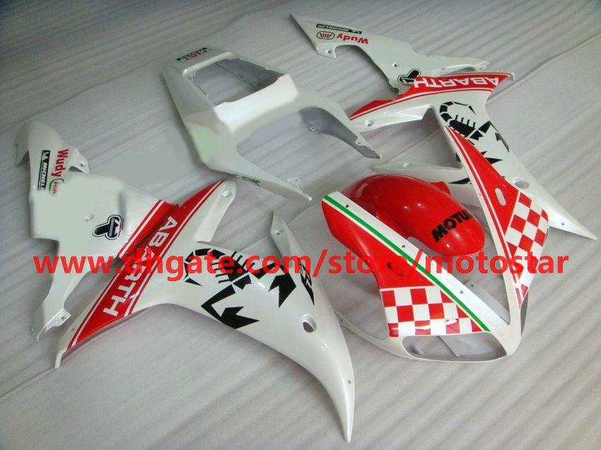 ABARTH fairings fit for YAMAHA 2002 2003 YZF-R1 02 03 YZFR1 YZF1000 YZF R1 fairing kit R1H3