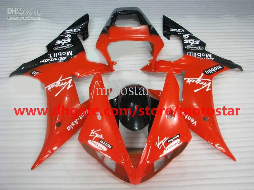 Orange-ren fairings fit for YAMAHA 2002 2003 YZF-R1 02 03 YZFR1 YZF1000 YZF R1 fairing kit