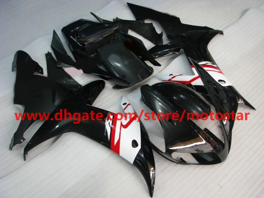 Black white red for YAMAHA 2002 2003 YZF-R1 02 03 YZFR1 YZF1000 YZF R1 fairings kit R1X3