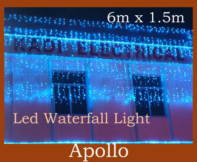 cheap led waterfall string light curtain xmas 6m 15m 300 leds water flow christmas wedding party holiday decoration fairy string lamp led lights string