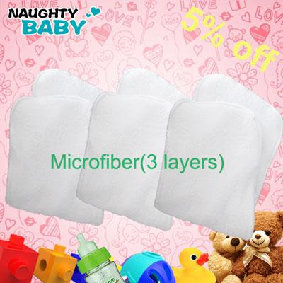best selling 500pcs Washable reuseable Microfibre Baby Cloth Diaper Nappy inserts US MX CA free shipping
