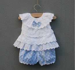 Wholesale Girls Lovely Coats - springtime Kids Clothing stripe Children Outfits yarn style Sets lovely girl Suit Coat + shorts