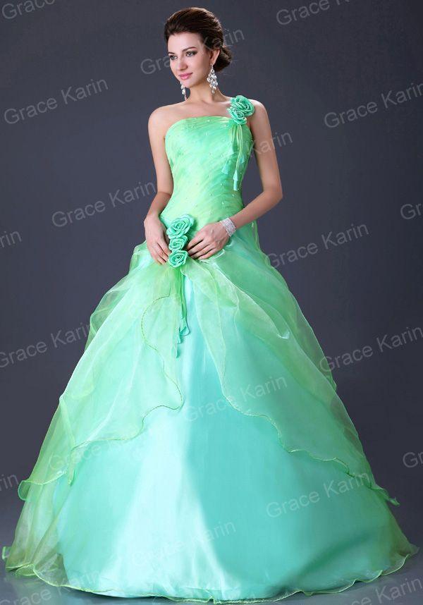 Beautiful Green Wedding Dresses