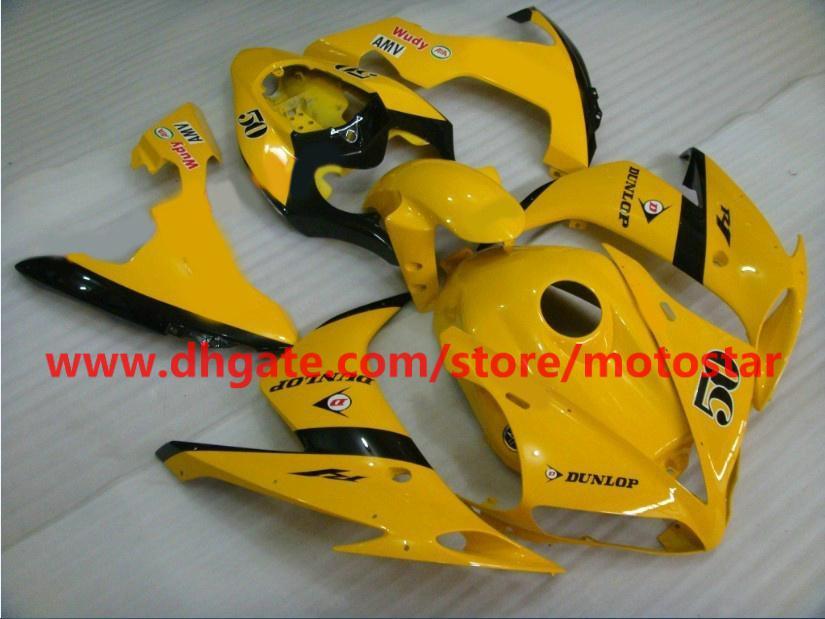 For 2004 2005 2006 YAMAHA YZF-R1 04 05 06 YZFR1 YZF1000 YZF R1 yellow fairings kit full tank cover
