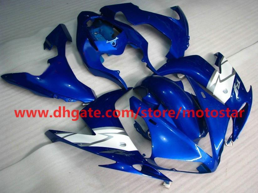 custom fairings for 2004 2005 2006 YAMAHA YZF-R1 04 05 06 YZFR1 YZF R1 blue white fairing kit